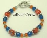 3357 orange milliflori  glass   silver bracelet thumb155 crop