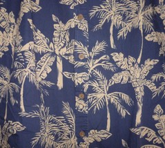 Cooke Street Blue Palm Trees Hawaiian Shirt Size Large - $19.99