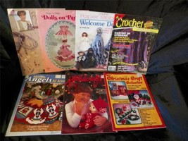 Mix lot 7 Vintage Crochet, Dolls, Quilting, Craft Books / Magazines Christmas + - $6.36
