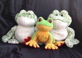 Ganz Frog Lot of 3~ 2 Spotted Webkinz &1 Lil Kinz Tree Frog ~ H142 &  HS... - $18.79