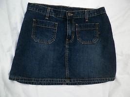 Abercrombie Fitch Mini Skirt Dark Denim Jean Micro Ladies 6 Blue Summer ... - $14.36