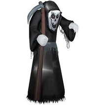 Halloween Beckoning Grim Reaper 5.5 Ft Airblown Inflatable Outdoor Decor - $76.56 CAD