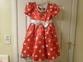 Disney Store Minnie Mouse Red Costume Dress  Sz 5/6 - $29.99