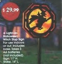 Halloween Light up Witch Stop Sign Yard Decor - $18.75 CAD