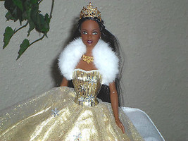 Christmas Celebration Barbie African American 2002 - $19.78