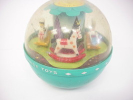 Fisher Price Roly Poly Chime Ball #165 Rocking Horse And Swan 1966 (made... - $7.91