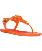 Coach Tea Rose Jelly Sandals Mandarin Size 5 - $74.24