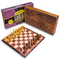 Vintage Wooden Chess Box Set - $34.95