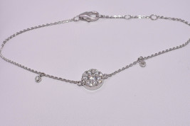 Bracelet with Round Diamond Cluster in 18K White Gold - Adjustable - $625.00