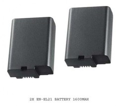 TWO 2 EN-EL21 Batteries for Nikon 1 V2 Mirrorless Digital Camera IV2 NEW - $26.94