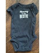 "Carters Newborn Baby Girl Bodysuit ""Mommy Is my Bestie"" Brown - $9.85"