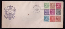 PREXY COIL #839-847 ON 1 COVER WASHINGTON DC JANUARY 20 1939 FIDELITY CA... - $12.63