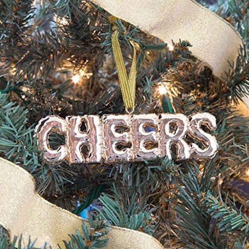 Balloon Style Gold Cheers Ornament