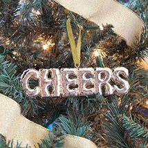 Balloon Style Gold Cheers  Ornament in gift box, by 8 Oak Lane
