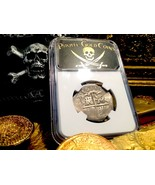 SPAIN 4 REALES 1633 SEVILLE NGC DET PIRATE GOLD COINS TREASURE SHIPWRECK... - $695.00