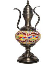 VINTAGE Turkish HANDMADE Glass Mosaic Table Lam... - $69.29