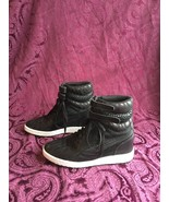 PUMA Contact Sky Wedge Animal Print High-Top Sneakers BLACK Size 8 - $53.90