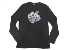 VANS Sine Sixty Six Cards Long Sleeve Black Thermal Style Shirt Adult Si... - $29.65