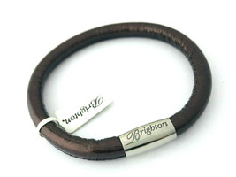 Brighton Woodstock Metallic Bronze Leather Bracelet, Size S, New - $37.99