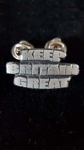 KEEP BRITAIN GREAT double pin badge lapel Badge / tie pin, Lapel Pin Badge, boxe