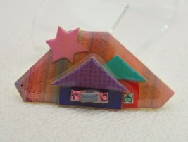 Vintage HOUSE PINS BY LUCINDA Mixed Materials Star House Pin Brooch - $26.73