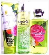 Bath & Body Works Sweet Magnolia Clemintine Gift set Body Cream, Bath Ge... - $29.11