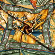 Auth Hermes Scarf AU SON DU TAM-TAM Silk BOURTHOUMIEUX 90cm - $299.95