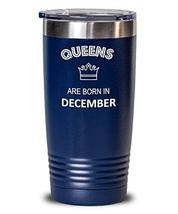Insulated Travel Tumbler Queen Born In December Birthday Hot Cold Thermos for Mo - $29.69