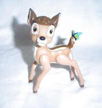 "Vintage Walt Disney  Bambi 3"" Figure Blue Butterfly On Tail Posable  - $9.99"