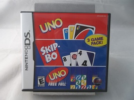 Uno Skip-Bo Uno Free Fall 3 Game Pack 2006 Nintendo DS DSL DSi Video Game - $8.00