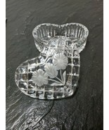 Crystal Clear Glass & Frosted Daisies Heart Shaped Vanity Trinket Ring Box - $32.66
