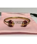Kate Spade Little Ladybug Open Hinged Cuff Bracelet w/KS Dust Bag New - $38.00
