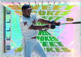 1997 Topps Sweet Strokes Card SS3 Albert Belle Indians - $0.94