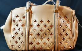 MG Collection Beatriz Cutout Bowling Tote Shoulder Bag, Light Khaki, One... - $15.83