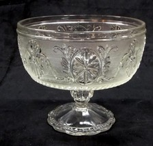 Indiana Glass Clear 'Sandwich Glass' Depression Glass Compote - No Reserve - $19.95