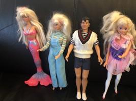 1996 Bubbling Mermaid,1990 Hasbro Ken Clone, 1994 Tooth fairy, 1997 Cool... - $59.39