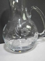 Signed Lenox HAND Cut glass bouquet Crystal pitcher  Made in USA - $27.12