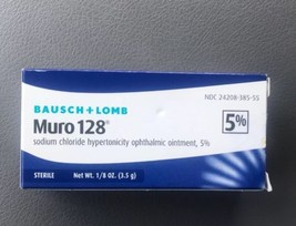 Bausch and Lomb Muro 128 Ointment 5% Percent 3.5g Exp 02/21 - $16.35