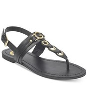 G by Guess Women's Premium Designer Slip On Flat Sandals Lesha Black