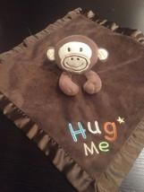 Circo Target Brown Hug Me Monkey Baby Blanket Satin Security Lovey 15x15 - $569,80 MXN