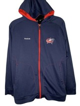 Reebok NHL Size 2X Athletic Jacket Hooded Blue with Red Full Zip Center Ice - $34.60