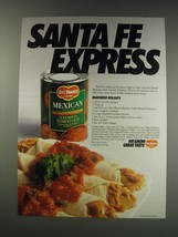 1991 Del Monte Mexican Style Stewed Tomatoes Ad - recipe for Ranchero Rollups - $14.99