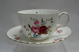 ROYAL ADDERLEY CHINA - H1024 Floral Pattern - CUP & SAUCER SET - $23.47