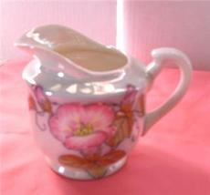 CHIKUSA GOLD CASTLE HANDPAINTED CREAMER JAPAN FLORAL - $18.99