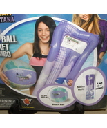 DISNEY Purple/Blue Heavy Duty Vinyl Beach Ball & Raft Combo Set, Hannah ... - $14.95