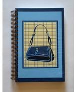 Spiral Notebook / Journal / Dairy - Blue Handbag Design - $5.95