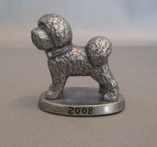 Pewter Miniature Figurine Poodle  2008 - $9.90