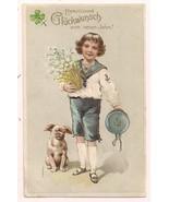 PFB Series 6199  Boy with dog Greeting Postcard - $4.95