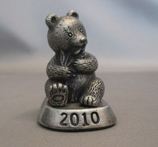Pewter Miniature Panda Bear Figurine   2010 - $9.90