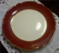 WELLSVILLE CHINA CO BURGANDY SERVING PLATTER SCALLOPED - $19.95
